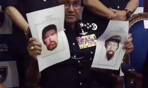 המשטרה מציגה את החשודים - משטרת מלזיה: אלו שני החשודים בחיסול מהנדס החמאס