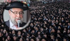 הרב פנחס גולדשמידט על רקע העצרת של 'יהדות התורה'