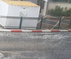 גשמים במרכז - גשמים בכל הארץ; הצפות והפסקות חשמל