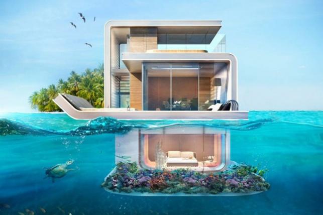 """הווילה התת ימית של פרויקט """"סוסון הים הצף"""" בדובאי"""