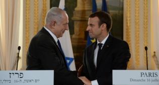 מקרון ונתניהו בביקורו בצרפת - הנשיא הצרפתי מקרון יגיע לביקור בישראל