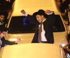 """נאומו של """"מרן ראש הישיבה"""" הגרב""""ש דויטש - עצרת """"הפלג"""": שני הרבנים סומנו כמנהיגים"""