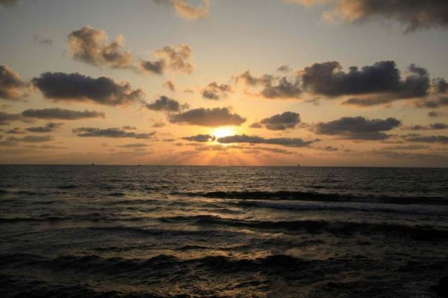 חוף הים ביפו אמש