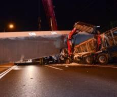 הגשר שקרס - הלילה: גשר רמת אלחנן ישופץ • הסדרי תנועה