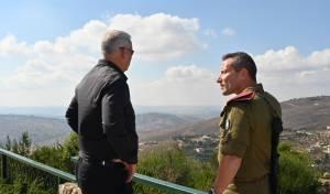 גנץ בגבול לבנון