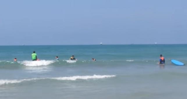 חוף הגלישה בקריית ים