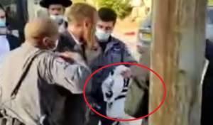 מעצר אלים: התמגן בטלית ולא במסכה. צפו
