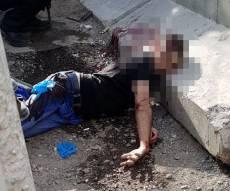 זירת הפיגוע - מחבל ניסה לדקור ונורה למוות בידי החיילים
