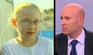 שי גל לצד נעמה בת ה-7 (צילום מסך מערוץ 2)