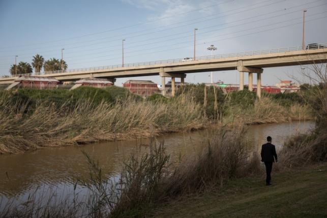 נהר לכיש ליד אשדוד