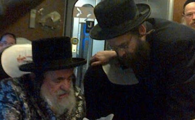 """הרב יהודה אברהם עיבר פלדמן ז""""ל עם האדמו""""ר מויז'ניץ"""