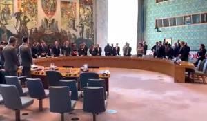 """הפיגוע בבית חב""""ד: דקת דומיה באו""""ם. צפו"""
