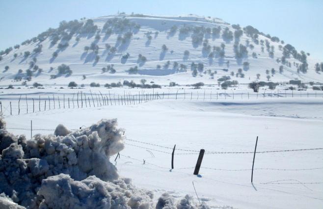 השלג ברמת הגולן והזרימות העזות בנחלי הצפון • צפו