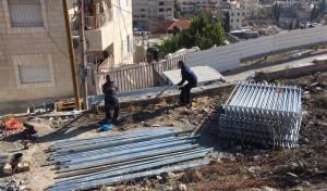 הקמת חומת הביטחון להגנת הר הזיתים