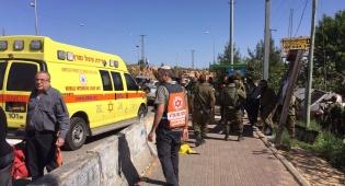 זירת הפיגוע - פיגוע דריסה בצומת עופרה; ישראלי נרצח