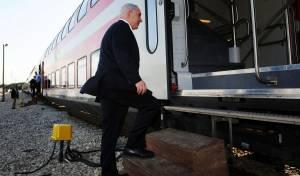 ראש הממשלה ברכבת