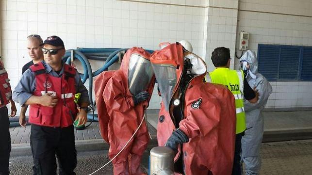 צוותי הכיבוי במפעל