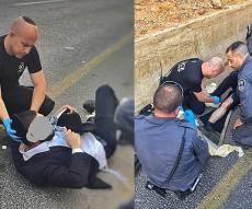 הטיפול במפגין הפצוע - המפגין החרדי נפצע וטופל על-ידי השוטרים