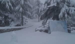 """עשרות ס""""מ של שלג באתר החרמון; תיעוד"""