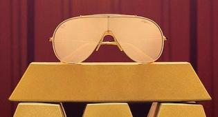 משקפי שמש ריי באן זהב