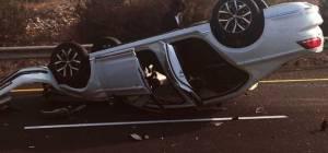 """רכבו של האדמו""""ר התהפך והוא יצא בלי פגע"""