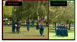 מימין: בצילומים; משמאל: הבריחה