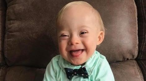 הפרזנטור החדש - לוקאס וורן - 'גרבר' בחרה בתינוק עם תסמונת דאון