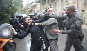 שוב אלימות משטרתית בירושלים • תיעוד