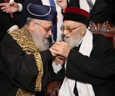 """הגר""""י יוסף עם הגר""""י מאמאן זצ""""ל - 'צריכים להשתתף בהלוויית הרב מאמאן ז""""ל'"""