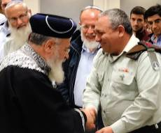 """הרמטכ""""ל והראשון לציון - ליברמן אישר פגישת הרב הצבאי והראשל""""צ"""