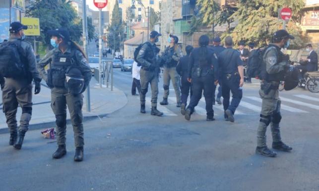 שוטרים במרכז ירושלים. אילוסטרציה