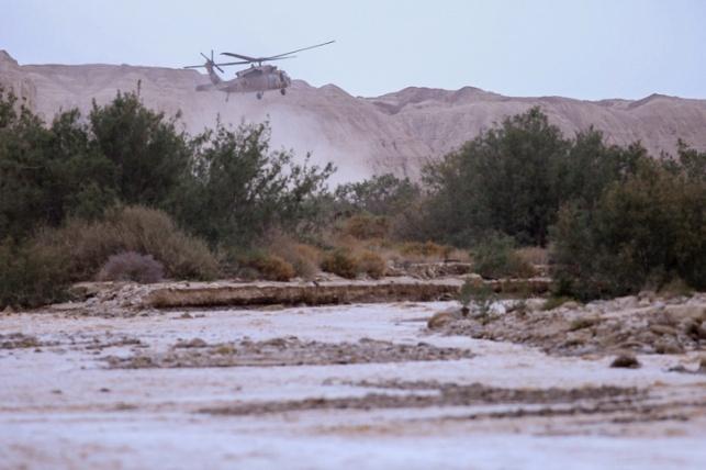 מאמצי החילוץ בנחל צפית על רקע הזרימה העזה