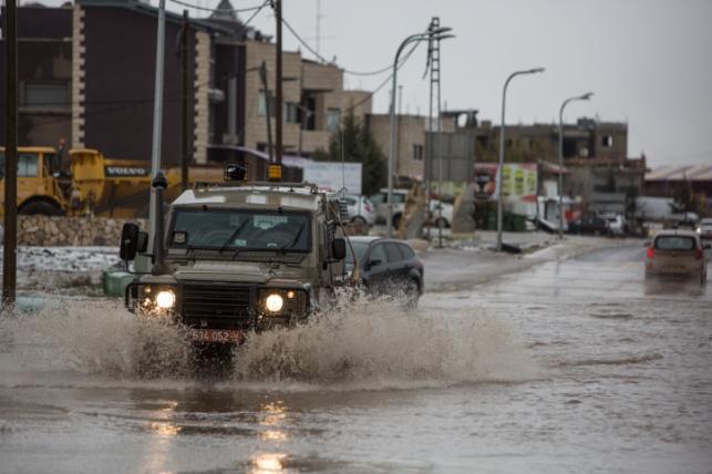 """גשמים עזים הלילה בגולן, תמונה מהסערה בסופ""""ש"""