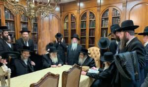 הרבנים במעונו של הרבי מסאטמר