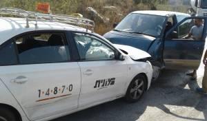 זירת התאונה - בת חודש נפצעה בינוני; אם וילדיה נפצעו קל