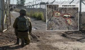 """צה""""ל מציג: זירת המטענים שנחשפו בגבול"""
