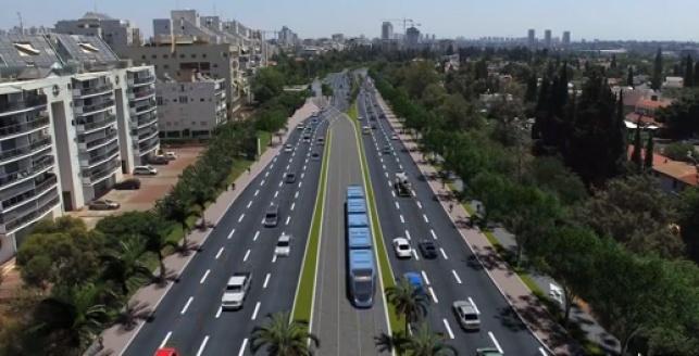 הדמיית הרכבת הקלה בתל אביב, הקו הסגול