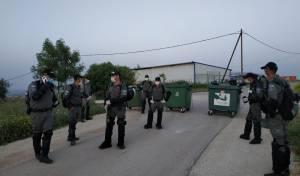 כוחות משטרה וצבא הורסים בתים ביצהר