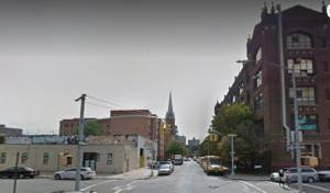 הרחוב בו אירע הפיצוץ