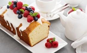 עוגת פאונד קלאסית בטעם וניל