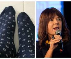 """""""של נעליך"""" הטיחה; צייץ תמונה עם גרביים"""