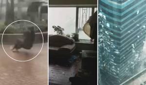 הטייפון בהונג קונג: עשרות חרדים תקועים
