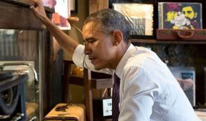 """""""כמו קוף ביער טרופי"""", הנשיא אובמה"""