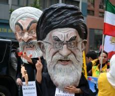 הפגנה נגד משמרות המהפכה