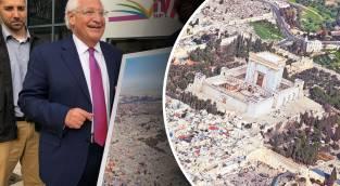 השגריר ותמונת בית המקדש במקום המסגד