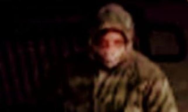 ג'ורדן ברונט, כפי שתועד במצלמות אבטחה בזמן ההשחתה
