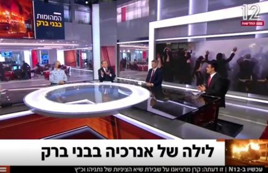 באולפן חדשות 12: ישי כהן ונציג המשטרה