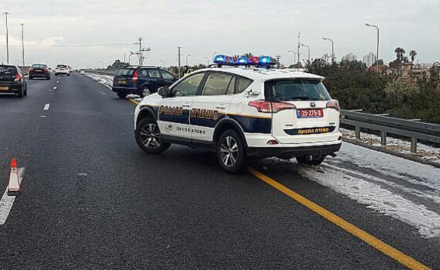 הצטברות קרח בכביש 2