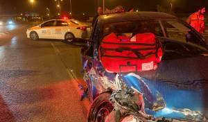 שישה בני אדם - בהם תינוק, נפצעו בתאונה