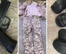 הפריטים שנמצאו בבית החשוד
